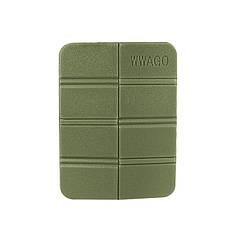 Складаний килимок сидушка WWAGO Green каремат портативний туристичний 38,5*27,5 см