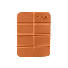 Складной коврик сидушка WWAGO Orange каремат портативный туристический 38,5*27,5 см