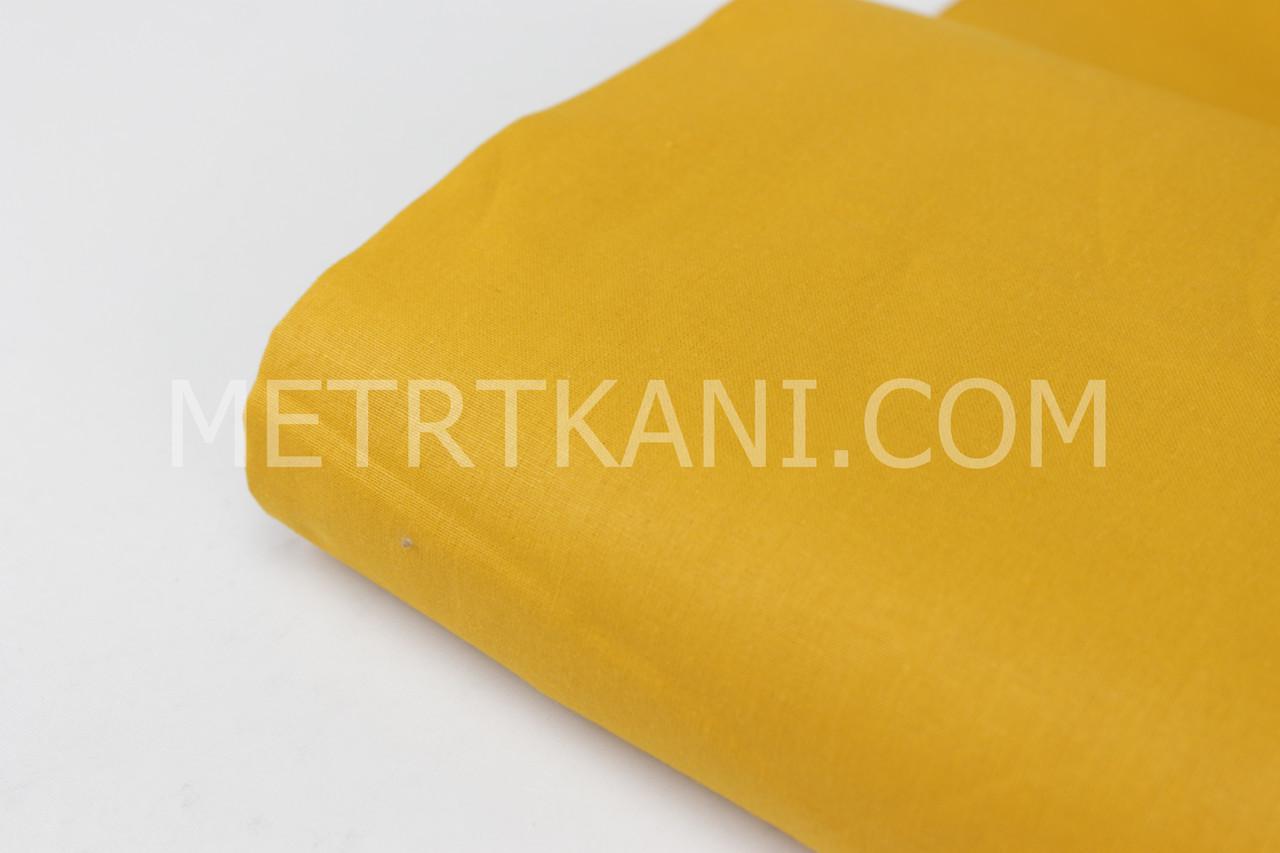 Клаптик. Однотонна польська бязь гірчичного кольору 125 г/м2., 20*160 см