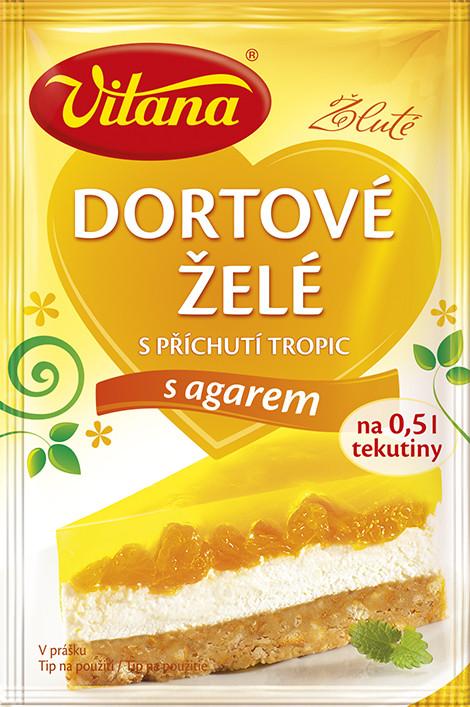 Vitana  Желе для торта з смаком тропічних фруктів з Агаром 10г