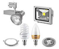 Светильники, прожекторы, источники света, пускорегулирующая аппаратура, декоративное освещение