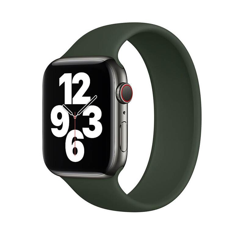 Силіконовий монобраслет Solo Loop Pine Green Apple Watch 38mm   40mm Size S