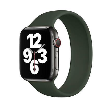 Силіконовий монобраслет Solo Loop Pine Green Apple Watch 38mm   40mm Size S, фото 2