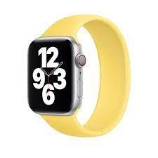 Силіконовий монобраслет Solo Loop Yellow для Apple Watch 38mm | 40mm Size S