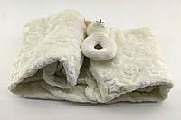 Дитячий плед ковдру Туреччина для новонародженого махра подарунок новонародженому бежевий (НДП15)