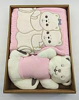 Дитячий плед ковдру Туреччина для новонародженого подарунок новонародженому рожеве (НДП32)