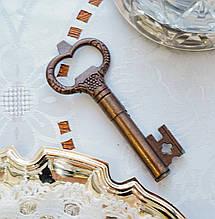 Старый коллекционный штопор для бутылок в форме ключа, бронза, винтаж, Германия