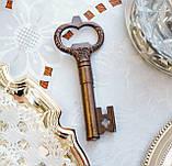 Старий колекційний штопор для пляшок у формі ключа, бронза, вінтаж, Німеччина, фото 2