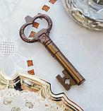 Старий колекційний штопор для пляшок у формі ключа, бронза, вінтаж, Німеччина, фото 4