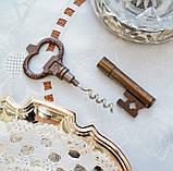 Старий колекційний штопор для пляшок у формі ключа, бронза, вінтаж, Німеччина, фото 3