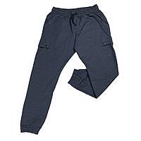 Мужские спортивные штаны на манжетах IFC 18027 XL 2XL 3XL 4XL 5XL 6XL синие Турция батал большие размеры, фото 1