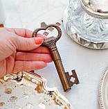 Старий колекційний штопор для пляшок у формі ключа, бронза, вінтаж, Німеччина, фото 5