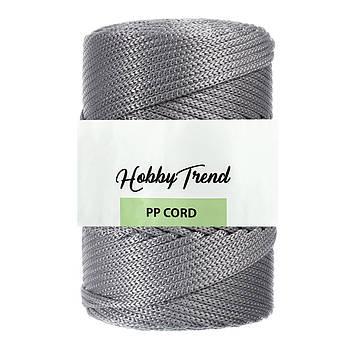 Полипропиленовый шнур Макраме Hobby Trend. Серый. 500г, 120м, 5 мм