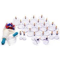 Банки вакуумные антицеллюлитные массажные Bao Yi Pull Out 24 штуки с насосом, фото 1