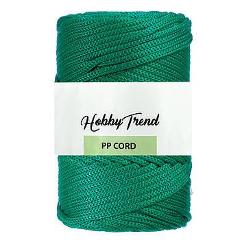 Полипропиленовый шнур Макраме Hobby Trend. Зеленый. 500г, 120м, 5 мм