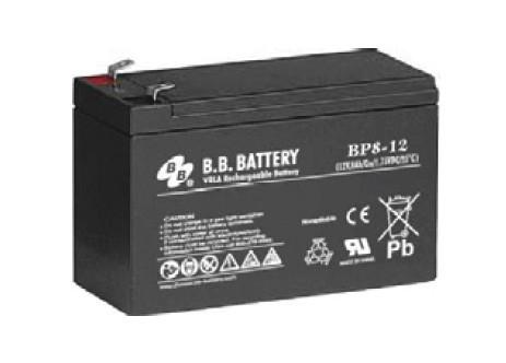 Свинцово-кислотный аккумулятор BB Battery 12В 8Ач BP8-12