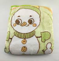 Дитячий плед ковдру Туреччина для новонародженого подарунок новонародженому салатова (НДП37)