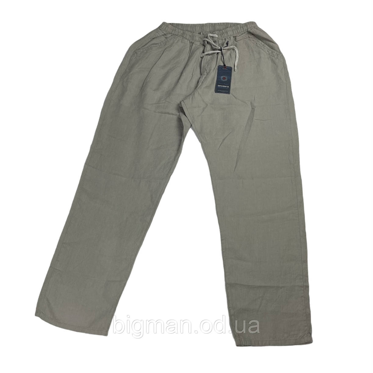 Чоловічі лляні штани Dekons 18030 56-66 розміру сірі Туреччина батал великий розмір