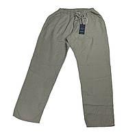 Мужские льняные штаны Dekons 18030 56-66 размера серые Турция батал большой размер