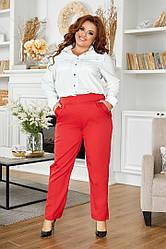 Батальні жіночі брюки високої посадки