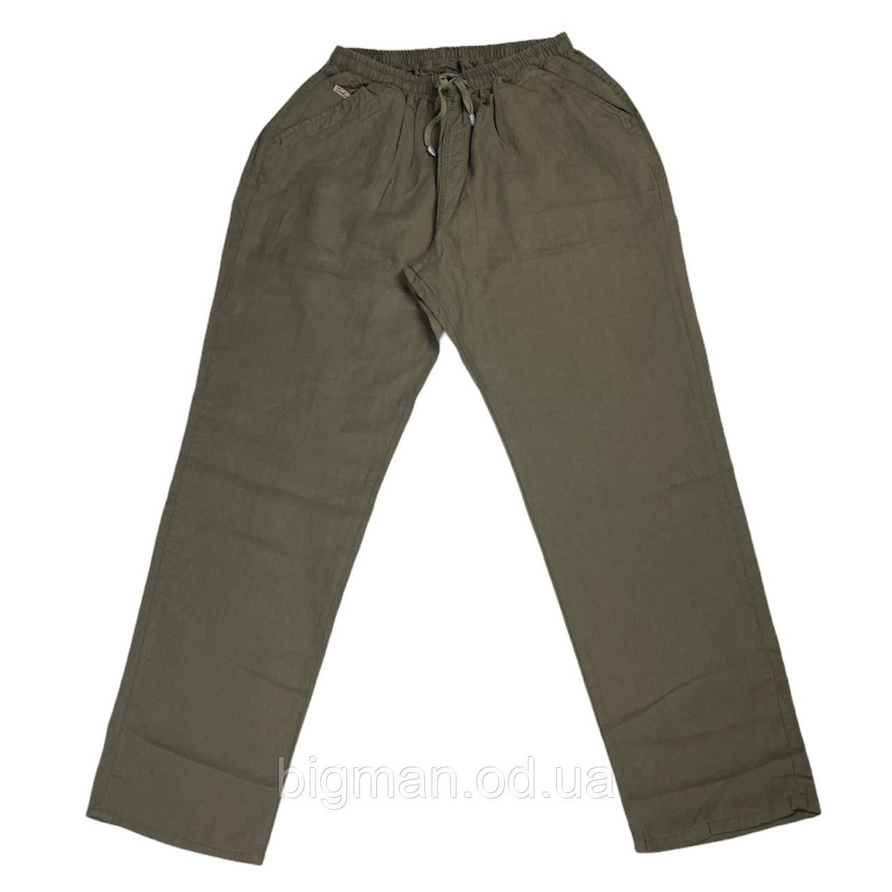 Чоловічі лляні штани Dekons 18031 56-62 розміру хакі Туреччина батал великий розмір