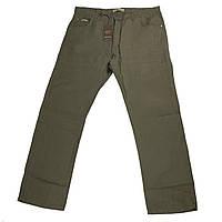 Мужские льняные штаны Dekons 18033 56-66 размера хаки Турция батал большой размер
