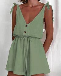 Літній жіночий комбінезон з відкритою спиною