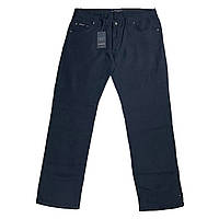 Мужские льняные штаны Dekons 18032 56-74 размера синие Турция батал большой размер, фото 1