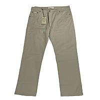 Мужские хлопковые штаны Dekons 18034 56-66 размера бежевые Турция батал большой размер