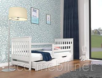 Ліжко дитяче Адель з натурального дерева  (бук) Луна