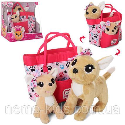 Плюшевая собачка Кикки в сумке, Счастливая семья Кикки, для девочки.