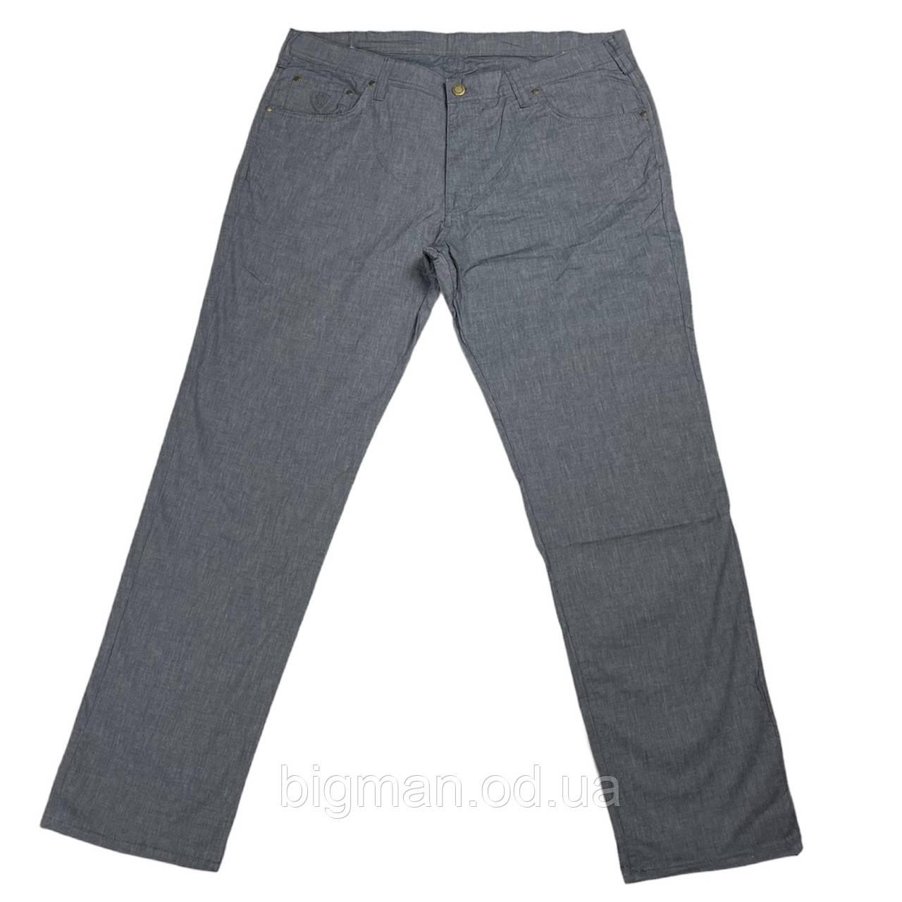 Мужские хлопковые штаны IFC 18036 54-66 размера серые Турция батал большой размер