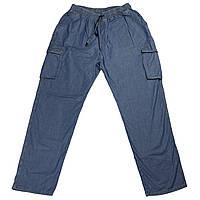 Мужские джинсы на резинке Miele18040 60-74 размера синие большого батального размера Турция