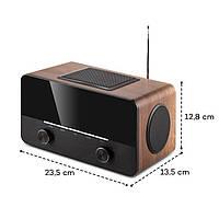 Німецьке інтернет радіо, радіо онлайн, радіо через інтернет Auna connect 150 колір коричневий