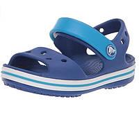 Крокс оригинал детские босоножки светло-синие Crocs Kids Bayaband Sandal J1 J3