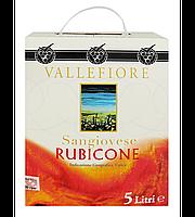 Вино Vallefiore Sangiovese Rubicone червоне сухе 11% 5 л (Італія), фото 1