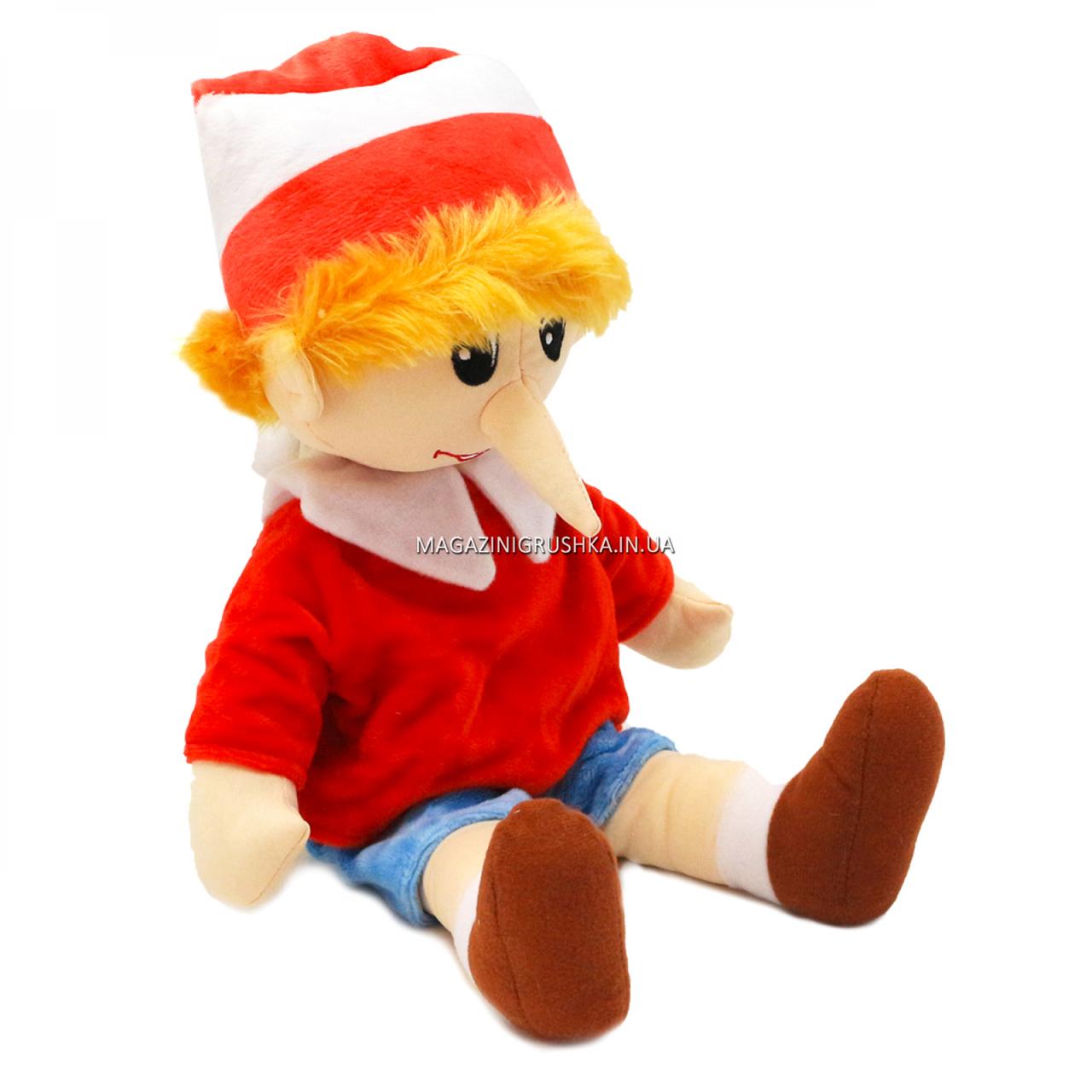 М'яка іграшка «Буратіно», хутро штучне, 40 см (00417-32)