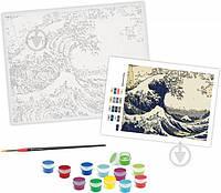 Картина по номерам акриловая живопись по номерам Под волной Канагавского моря Rosa Start