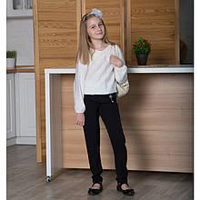 Блузка для дівчинки з комірцем, довгий рукав SmileTime з коміром Claire, молочна