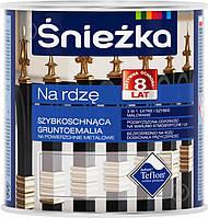 Грунт-эмаль Sniezka по металлу Na rdze молотковая красно-коричневый шелковистый глянец 0,65&nbspл