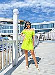 Женское платье, супер - софт, р-р 42-44; 46-48 (салатовый неон), фото 2