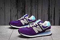 Кроссовки женские 17882, New Balance  574 фиолетовы, [ нет в наличии ] р. 38-24,0см., фото 1