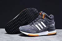 Зимові чоловічі кросівки 31362, Adidas ZX 750 (хутро) темно-сірі, [ немає ] р. 45-28,8 див., фото 1