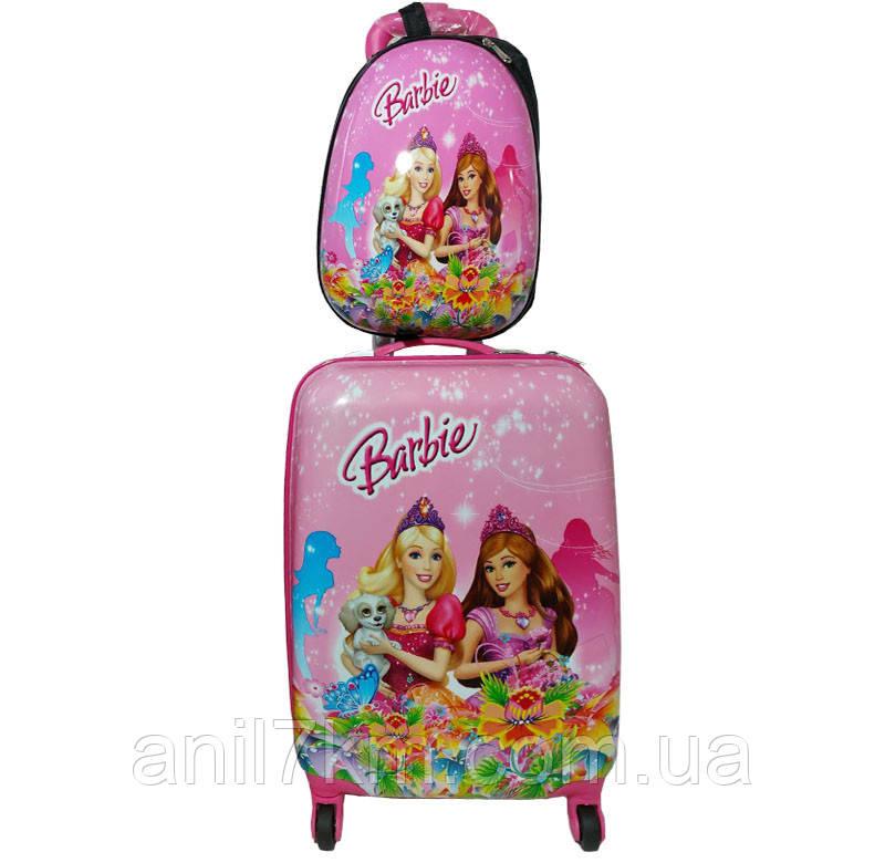 Детский чемодан на четырёх колёсах + рюкзак