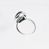 Срібне кільце з малахітом, 1753КМ, фото 3
