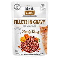 Brit Care Fillets in Gravy Hearty Duck влажный корм с уткой для котов