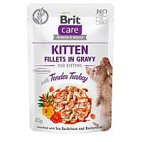 Brit Care Fillets in Gravy KITTEN Tender Turkey влажный корм с нежной индейкой для котят