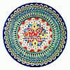 Ляган (узбекская тарелка) 55х6см для подачи плова керамический (ручная роспись) (вариант 6)