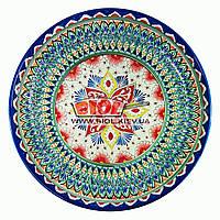 Ляган (узбекская тарелка) 55х6см для подачи плова керамический (ручная роспись) (вариант 6), фото 1