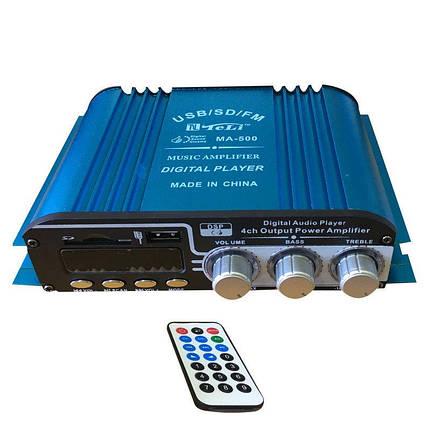 Підсилювач UKC MA-500 USB+Mp3 4*55W, фото 2